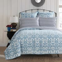 LUX-BED 1-Piece Peridot Light Blue Quilt