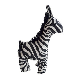 Handmade Safari Stuffed Animal - Zebra - Imani Workshops (Kenya)