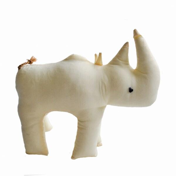 Handmade Safari Stuffed Animal - Rhino - Imani Workshops (Kenya)
