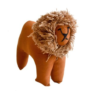 Handmade Safari Stuffed Animal - Lion - Imani Workshops (Kenya)