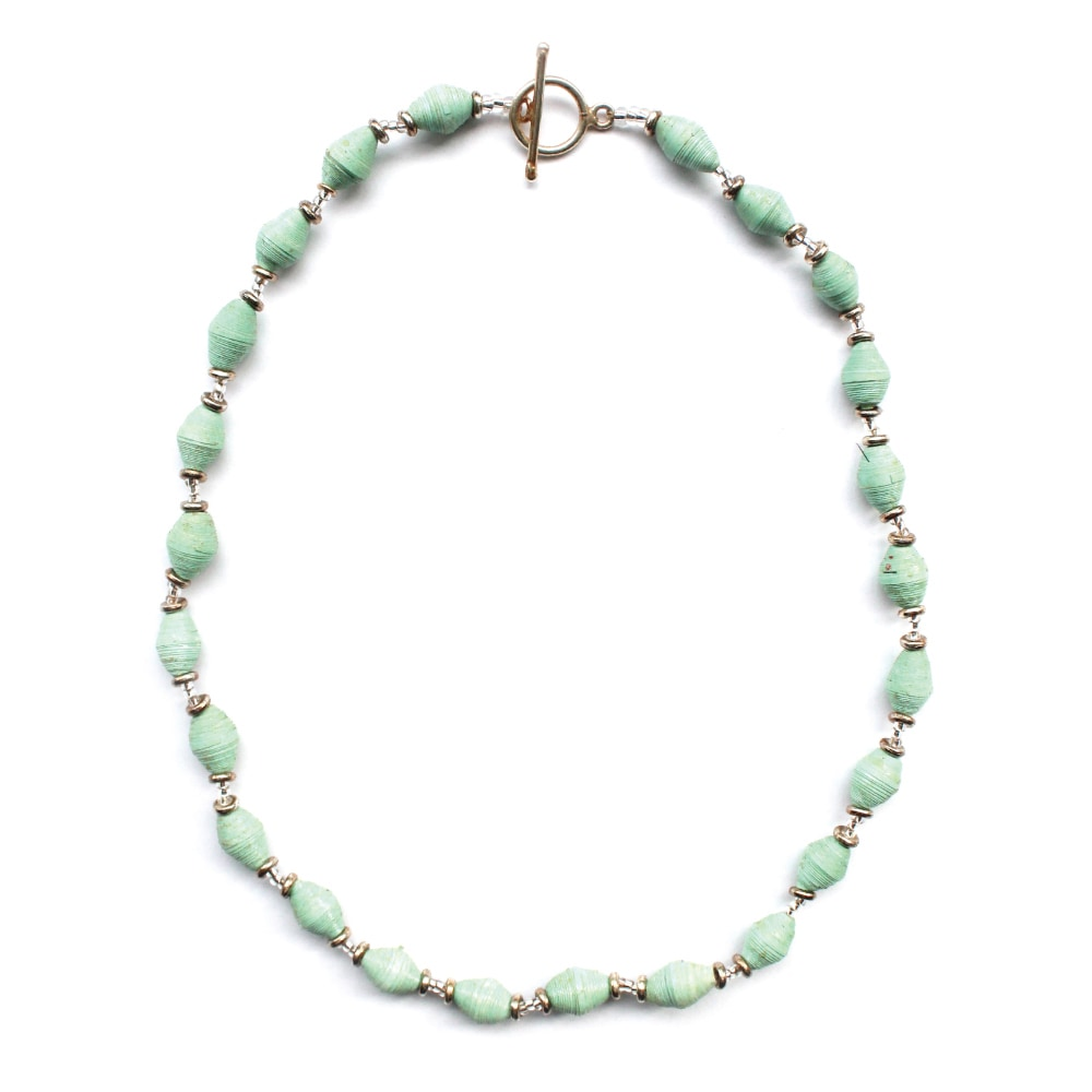 Global Crafts Handmade Seafoam Single Strand Magazine Bea...