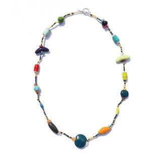 Handmade Funky Multicolor Single Strand Necklace - Imani Workshops (Kenya)