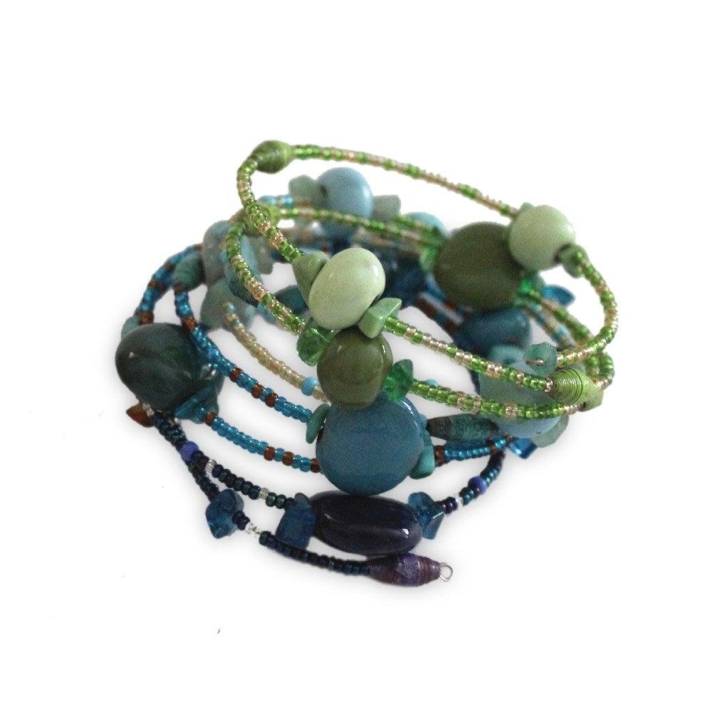 Global Crafts Handmade Water Funky Sprial Bracelet - Iman...