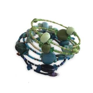 Handmade Water Funky Sprial Bracelet - Imani Workshops (Kenya)