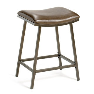 Hillsdale Furniture Brown Copper/Brown Vinyl Nested-leg Saddle Counter/Bar Stool