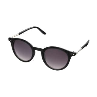 Hot Optix Women's Round Retro Metal Embellished Temples Sunglasses
