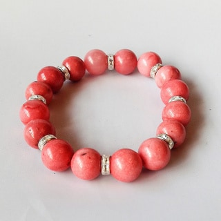Pink Jade Stretch Bracelet (USA)