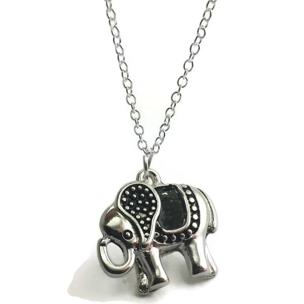 Shop mama designs handmade 18 sterling silver elephant pendant mama designs handmade 18 sterling silver elephant pendant necklace aloadofball Image collections