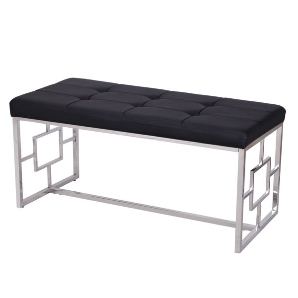 Overstock Foyer Bench : Shop adeco stainless steel bench entryway footstool free