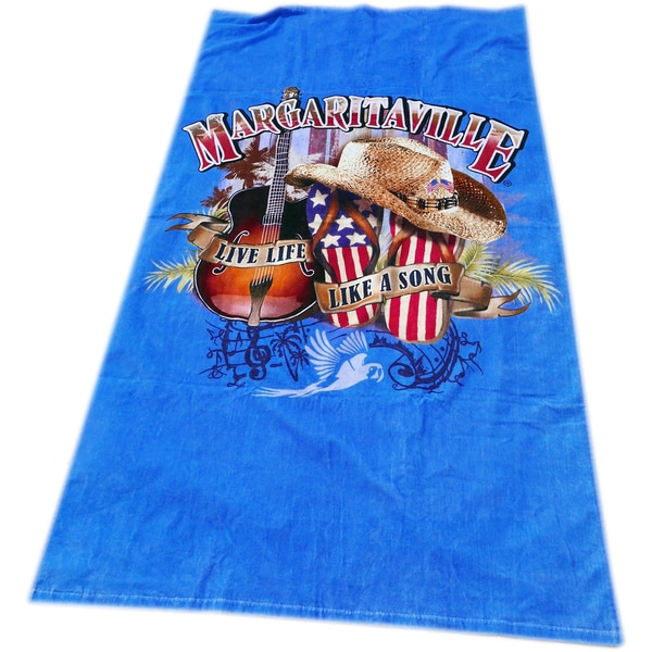 Margaritaville 'Live Life Like A Song' Beach Towel