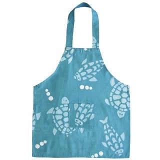 Handmade Aqua Turtles & Fish Children's Apron - Global Mamas (Ghana)