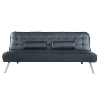 Adeco Fabric Fiber Sofa Bed Sofabed Lounge, Soft Cushion, Living Room Seat, Metal legs
