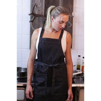 Cross-Back Denim Apron