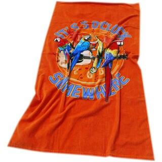 Margaritaville Rockin' Parrots Orange Beach Towel