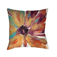Laural Home Sunset Splash Daisy Decorative Throw Pillow