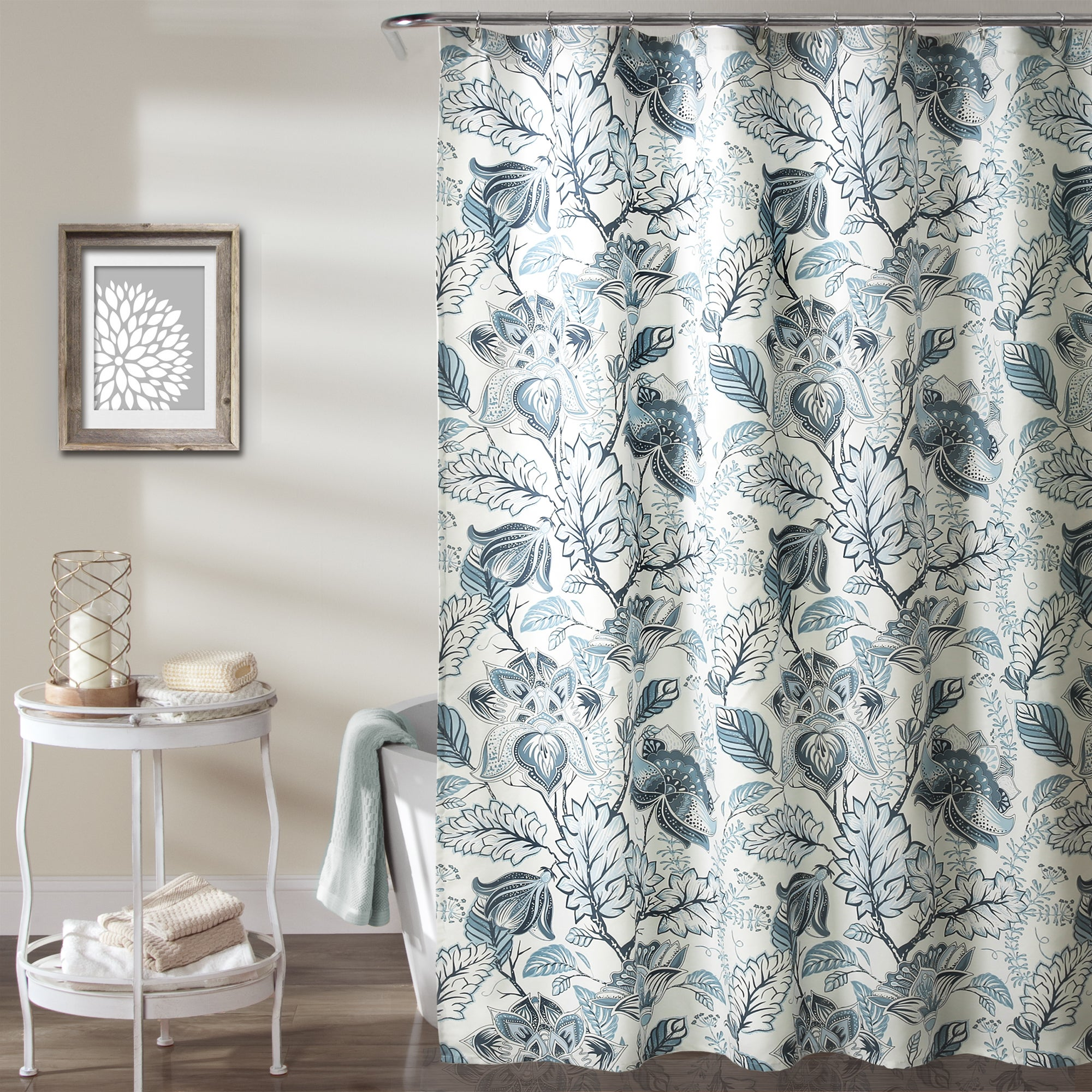 Details About Lush Decor Cynthia Jacobean Shower Curtain