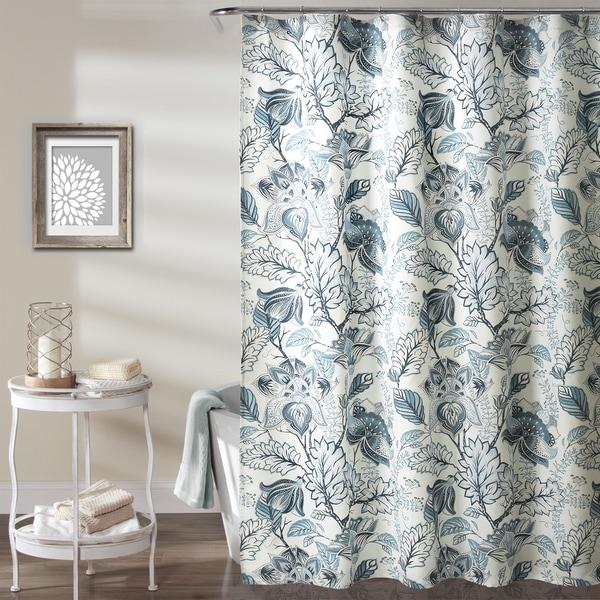 Shop Lush Decor Cynthia Jacobean Shower Curtain - Free Shipping On ...