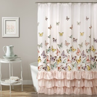 Lush Decor Flutter Butterfly Shower Curtain