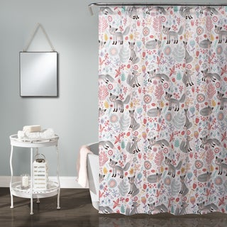 Lush Decor Pixie Fox Shower Curtain