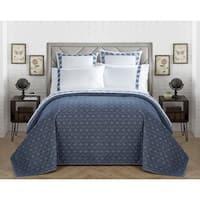 LUX-BED Cotton 1-Piece Pearce Garden Grey Quilt