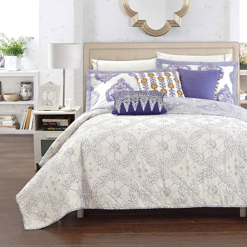LUX-BED Cotton 1-Piece Bergen Palace Grey Quilt