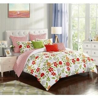 StyleNest Watercolor Floral 8-Piece Comforter Set