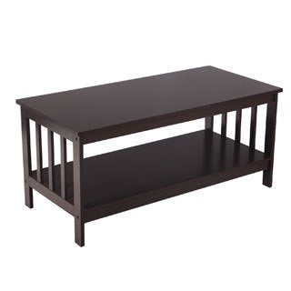 Adeco Accent TV Stand With Open Shelf