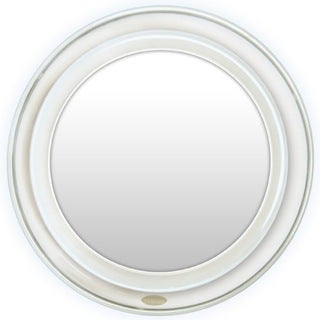 Super Bright LED Lighted Suction Mirror with 10x Magnification Plus Free 3-in-1 Compact Mirror