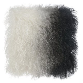 Black and White Tibetan Sheep Throw Pillow
