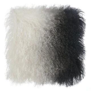 Black and White Tibetan Sheep Throw Pillow