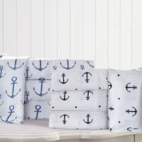 Anchors Nautical Microfiber Bed Sheet Set