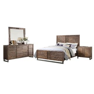 Acme Furniture Andria 4-Piece Bedroom Set, Reclaimed Oak