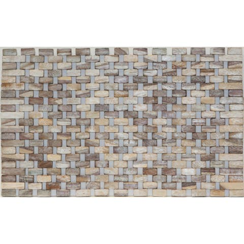 Rosewood Placemats with White Wash Finish IPM001 (Set of 2)