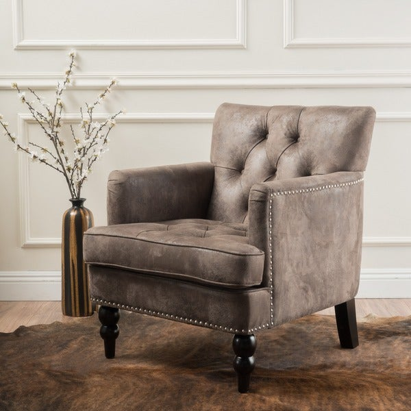 Beau Malone Microfiber Club Chair By Christopher Knight Home