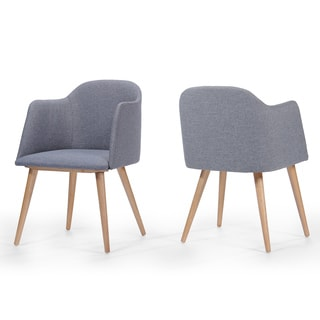Henrietta Mid-Century Fabric Dining Chair (Set of 2) by Christopher Knight Home