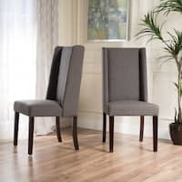 Rory Wing-Back Fabric Dining Chair (Set of 2) by Christopher Knight Home