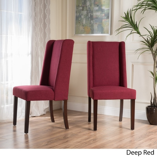 rory wingback fabric dining chair set of 2 by christopher knight home free shipping today