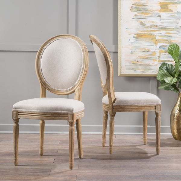 Phinnaeus Fabric Dining Chair by Christopher Knight Home (Set of 2)
