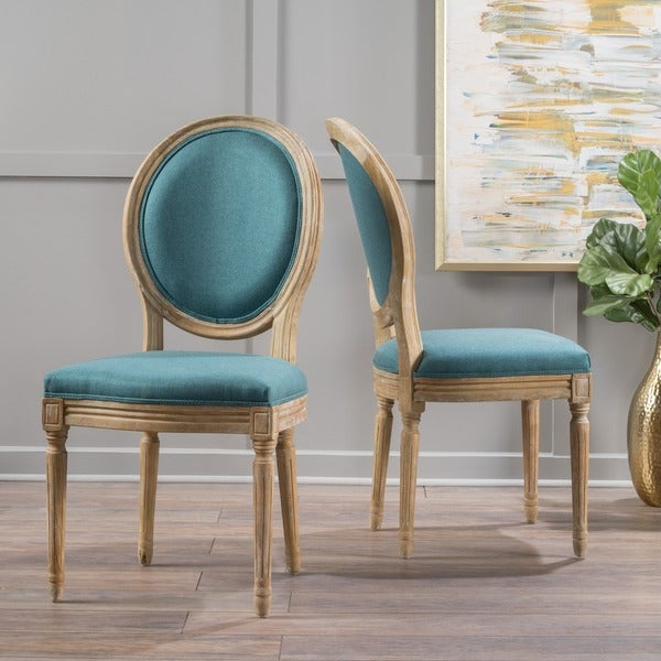 Dining Chair Set 2 Pair Accent Tufted Kitchen Modern Side: Shop Phinnaeus Fabric Dining Chair By Christopher Knight