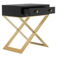 Safavieh Couture High Line Collection Yolanda Modern Lacquer Black/ Gold Accent Table