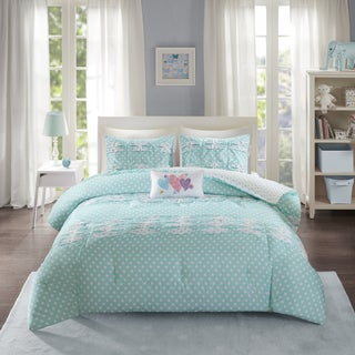 Mi Zone Beatrix Aqua Printed 4-piece Comforter Set (2 options available)