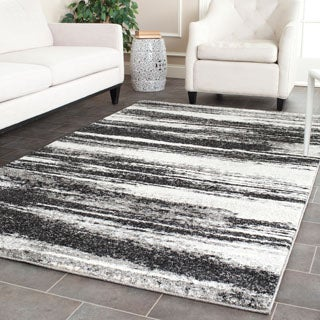 Safavieh Retro Modern Abstract Dark Grey/ Light Grey Rug (8' x 10')
