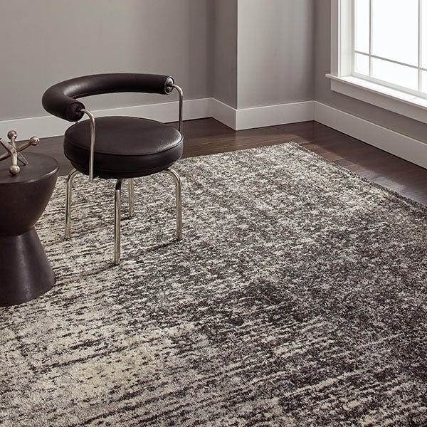 Safavieh Retro Modern Abstract Black/ Light Grey Rug (8' x 10')