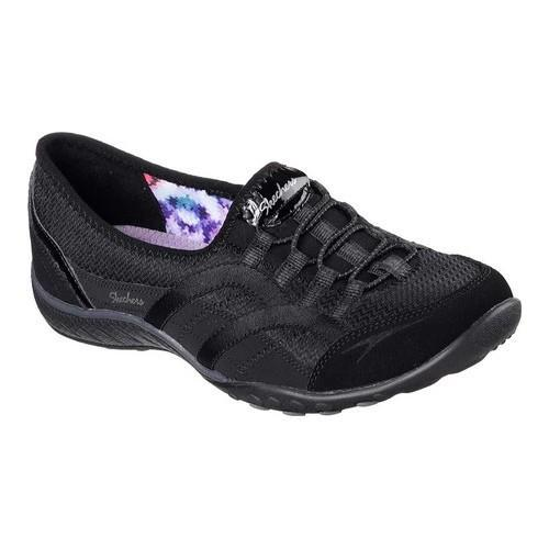 Skechers BREATH EASY - Slip-ons - black aKUWGH