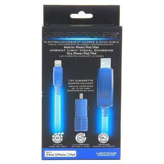 Pilot Automotive Blue Electroluminescent Light Up Apple Lightning Cable