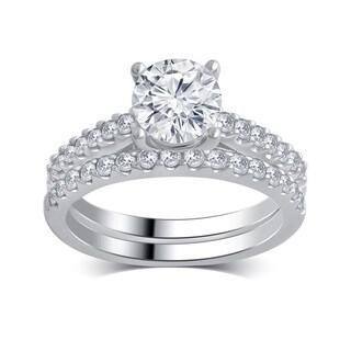 14k White Gold 2 1/5ct TDW White Diamond Bridal Set (H-I, I1-I2)