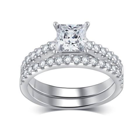 Divina 14k White Gold 1 1/4ct TDW White Diamond Bridal Set