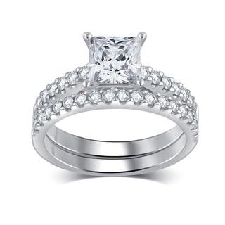 14k White Gold 2 1/5ct TDW White Diamond Bridal Set