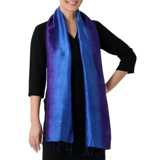 Handcrafted Silk 'Spring Shimmer' Scarf (Thailand)