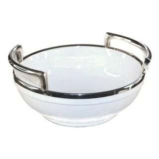 Elegance Ceramic Bowl with Plain Handle